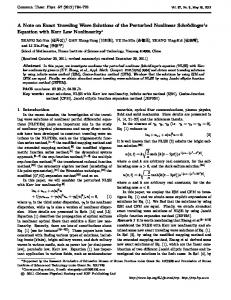 A Note on Exact Traveling Wave Solutions of the ...