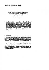 A Note on Extremality and Completeness in Financial ... - Numdam