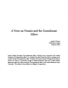 A Note on Fourier and the Greenhouse Effect - arXiv