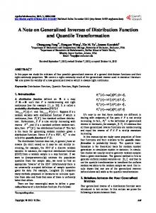 A Note on Generalized Inverses of Distribution Function and Quantile ...