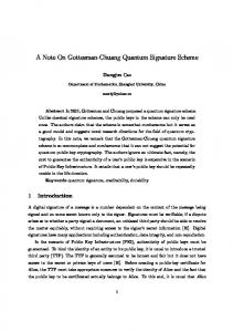 A Note On Gottesman-Chuang Quantum Signature Scheme