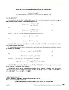 a note on incomplete exponential functions