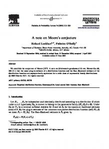 A note on Moore's conjecture