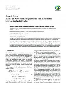 A Note on Parabolic Homogenization with a Mismatch between the ...