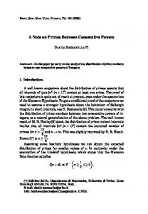 A Note on Primes Between Consecutive Powers - Numdam