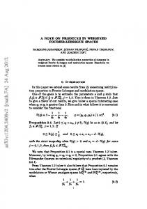 A note on products in weighted Fourier-Lebesgue spaces