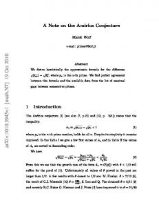 A Note on the Andrica Conjecture