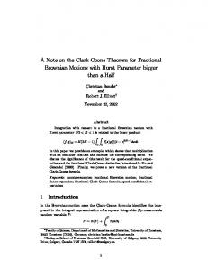 A Note on the Clark-Ocone Theorem for Fractional