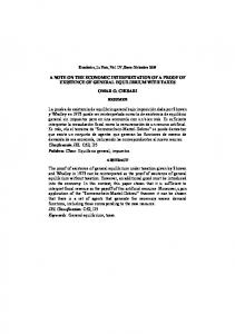 A NOTE ON THE ECONOMIC INTERPRETATION OF A PROOF OF ...