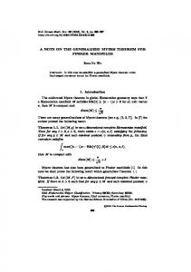 A NOTE ON THE GENERALIZED MYERS THEOREM FOR FINSLER ...
