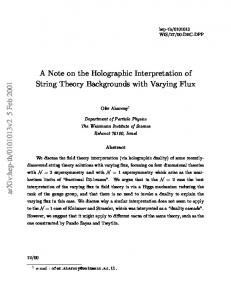 A note on the holographic interpretation of string theory backgrounds