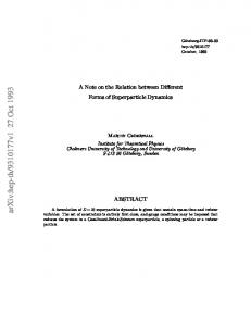 A Note on the Relation between Different Forms of Superparticle ...