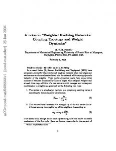"""A note on """"Weighted Evolving Networks: Coupling Topology and ..."""
