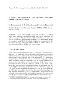A NOVEL 180   HYBRID BASED ON THE MODIFIED ... - PIER Journals