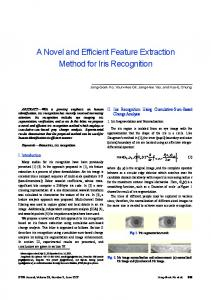 A Novel and Efficient Feature Extraction Method for ... - Semantic Scholar