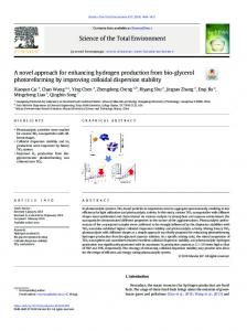 A novel approach for enhancing hydrogen production