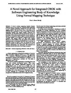 A Novel Approach for Integrated CBOK with Software Engineering ...
