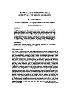 a novel approach for vehicle detection for driver ... - Semantic Scholar