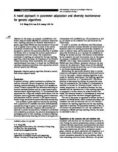 A novel approach in parameter adaptation and ... - Springer Link