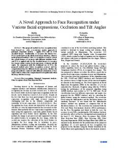 A Novel Approach to Face Recognition under Various