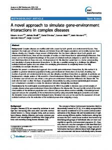 A novel approach to simulate gene-environment ... - Springer Link