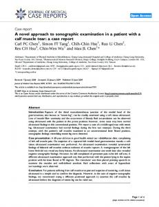 A novel approach to sonographic examination in a ... - Springer Link