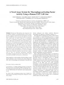 A Novel Assay System for Macrophage-activating Factor Activity Using ...