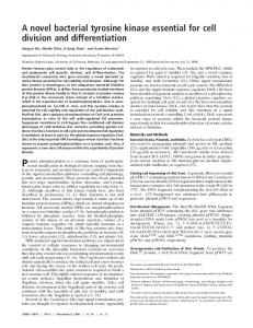 A novel bacterial tyrosine kinase essential for cell division and ...