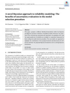 A novel Bayesian approach to reliability modeling - Wiley Online Library