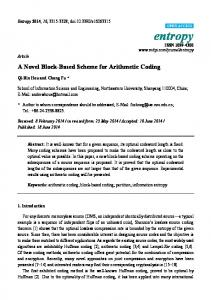 A Novel Block-Based Scheme for Arithmetic Coding - Semantic Scholar