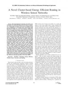 A Novel Cluster-Based Energy Efficient Routing in Wireless Sensor ...