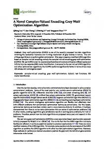 A Novel Complex-Valued Encoding Grey Wolf ... - Semantic Scholar