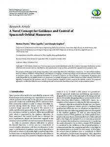 A Novel Concept for Guidance and Control of Spacecraft Orbital ...