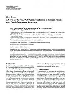 A Novel De Novo EFNB1 Gene Mutation in a Mexican Patient with ...