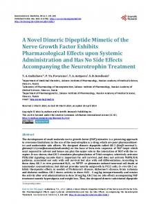 A Novel Dimeric Dipeptide Mimetic of the Nerve ... - Semantic Scholar