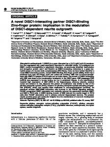 A novel DISC1-interacting partner DISC1-Binding Zinc-finger ... - Nature