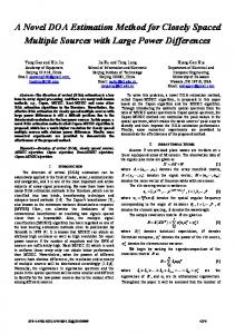 A Novel DOA Estimation Method for Closely Spaced ... - IEEE Xplore