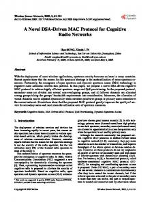 A Novel DSA-Driven MAC Protocol for Cognitive ... - Semantic Scholar