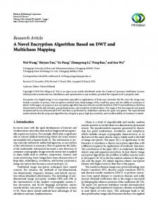 A Novel Encryption Algorithm Based on DWT and Multichaos Mapping