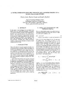 A novel estimator for the velocity of a mobile station in a ... - IEEE Xplore