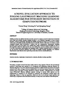 a novel evaluation approach to finding ... - Aircc Digital Library