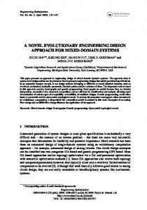 a novel evolutionary engineering design approach for mixed-domain ...