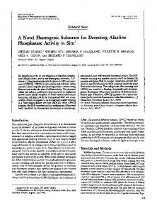 A novel fluorogenic substrate for detecting alkaline ... - SAGE Journals
