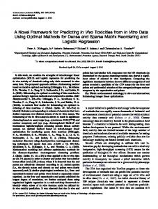 A Novel Framework for Predicting In Vivo Toxicities ... - Oxford Journals
