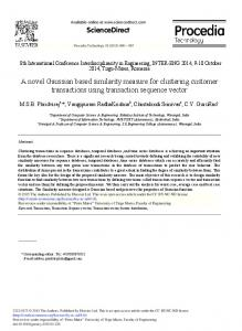 A Novel Gaussian Based Similarity Measure for ... - ScienceDirect