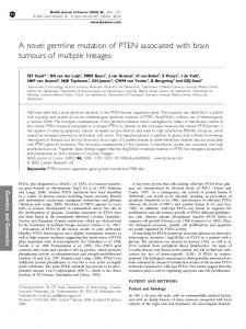 A novel germline mutation of PTEN associated with ... - BioMedSearch