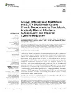 A Novel Heterozygous Mutation in the STAT1 SH2 Domain Causes ...