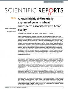 A novel highly differentially expressed gene in ... - Semantic Scholar