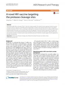 A novel HIV vaccine targeting the protease cleavage sites