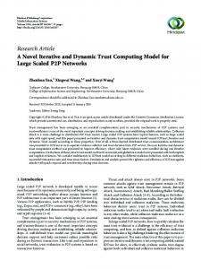 A Novel Iterative and Dynamic Trust Computing Model for Large ...